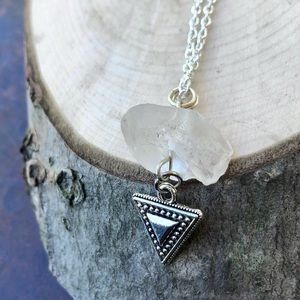 Jewelry - Quartz Crystal and Tribal Triangle Necklace